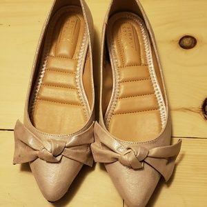 Rose gold flats shoes